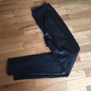 "Ann Taylor ""leather"" leggings Size 6"